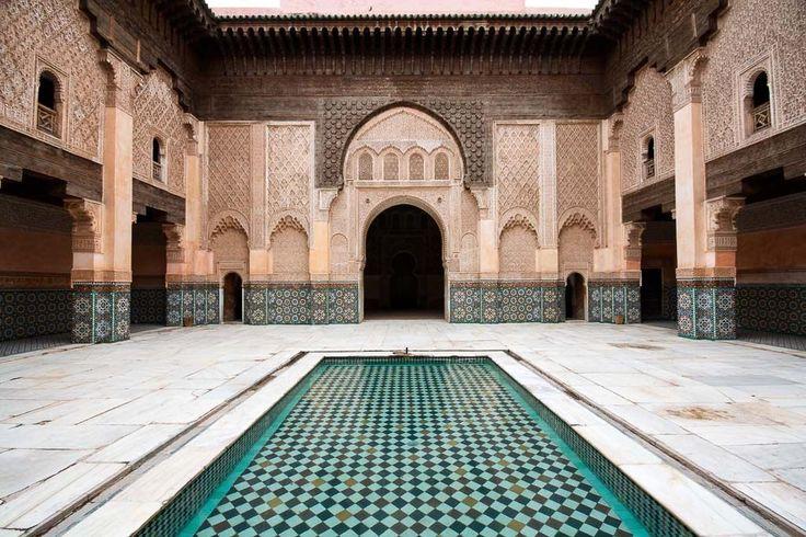 La médersa Ali Ben Youssef, l'une des merveilles architecturales de Marrakech   © Flickr CC – eatswords - https://flic.kr/p/9Y9n9g