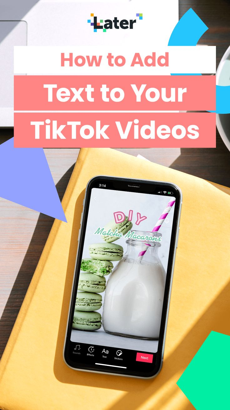 How To Add Text To Your Tiktok Videos Later Blog Text Features Marketing Strategy Social Media Social Media