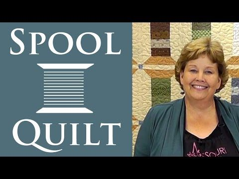 ▶ The Spool Quilt: Easy Charm Pack Quilting Tutorial with Jenny Doan of Missouri Star Quilt Co. - YouTube