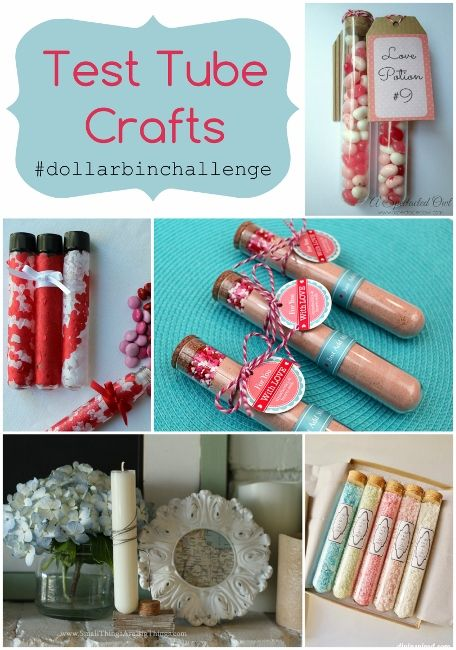 Super cute test tube craft ideas for Valentine's Day- Plus How to Make Homemade Bath Salts