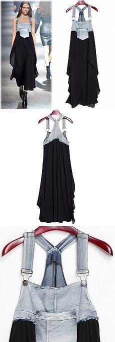 Сарафан из комбеза и юбки / Платья Diy / Модный сайт о стильной переделке одежды и интерьера