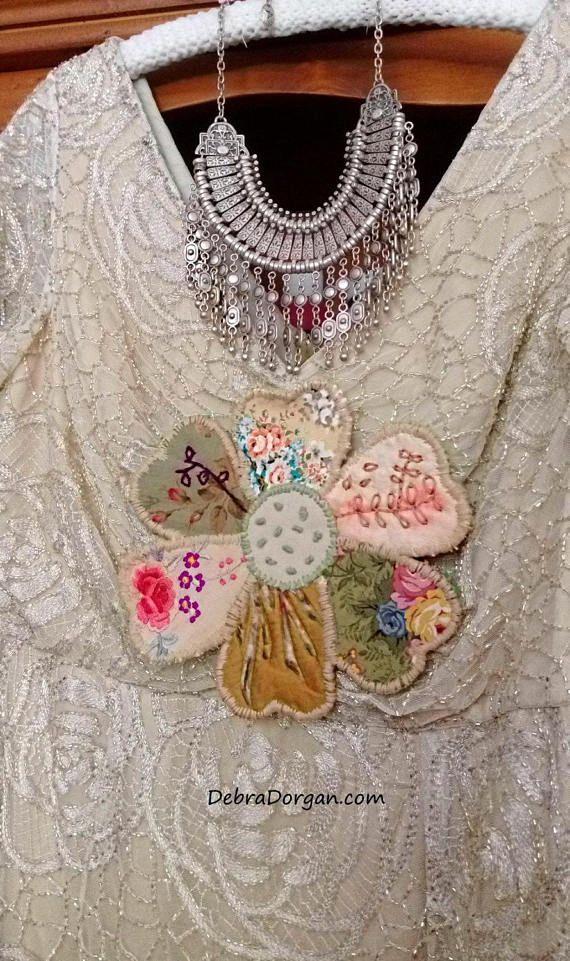 Grote lappendeken bloem Kit Hand naaien mooie textiel