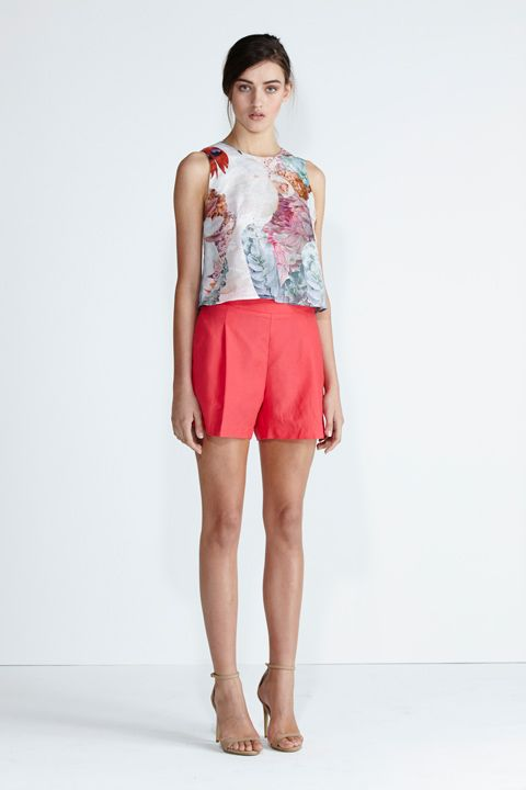 Secret South SS13/14 collection. Desert Pea Top in Red Floral. Daylight Short in Hibiscus. www.secretsouth.com.au