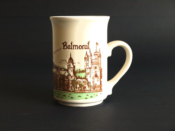 Balmoral Castle Scotland Mug - Queen's Scottish Residence - Ashdale Potteries Yorkshire - Made in England by FunkyKoala on Etsy