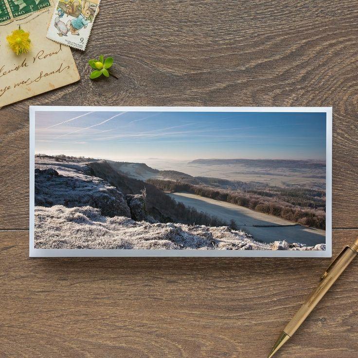 Single Blank Card by landscape photographer Nina K Claridge – Underbarrow from Scout Scar