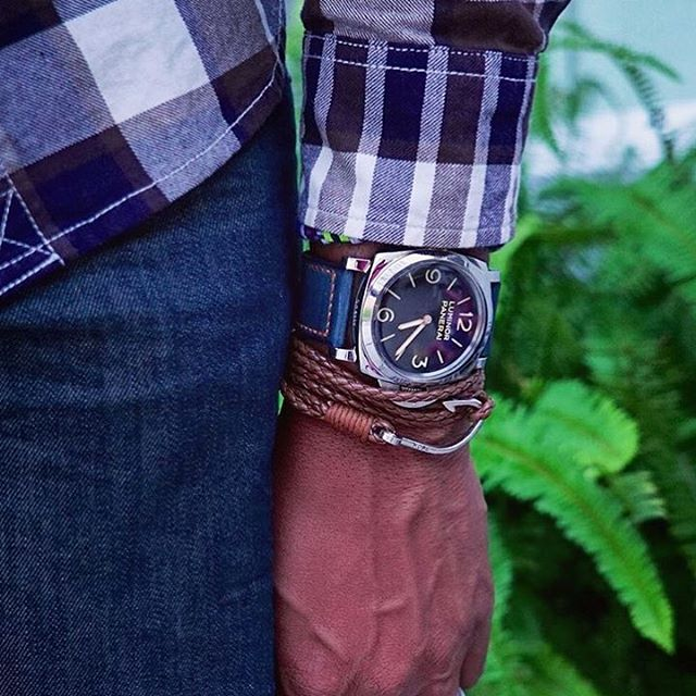 Brand ambassador @steezygent pairing #TheWinston bracelet from @dappervigilante with a beautiful Luminor Panerai #watch.  View #TheWinston range at bit.ly/DapperVigilante.  #DapperVigilante