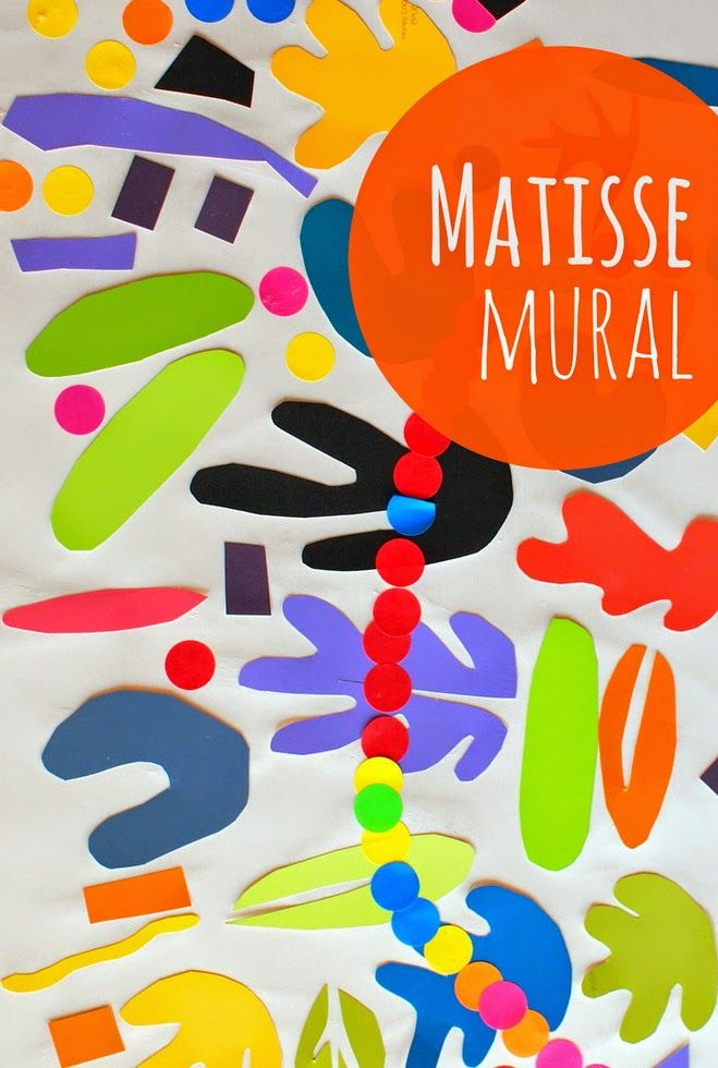 make matisse-inspired wall murals with preschool kids
