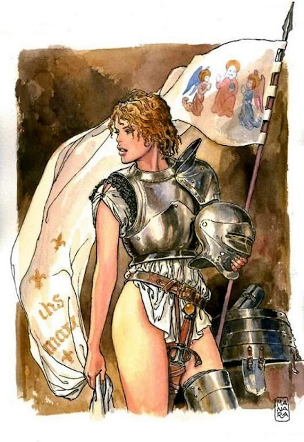 Joan of Arc by Milo Manara
