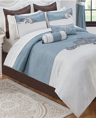 Ellington 24 Piece Comforter Sets - Bed in a Bag - Bed & Bath - Macy'sOrnate Scrolls, Ellington 24, Master Bedrooms, Piece Comforters, 24 Piece, Bedrooms Decor, Scrolls Motif, Comforters Sets, Bedrooms Ideas