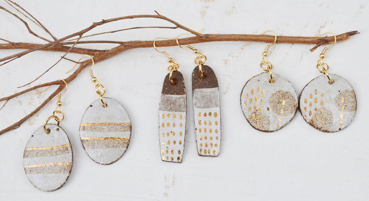Ceramic earrings by Susan Simonini