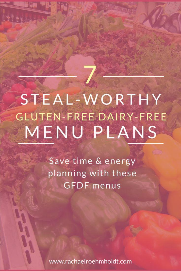 7 Steal-worthy Gluten-free Dairy-free Menu Plans | http://RachaelRoehmholdt.com