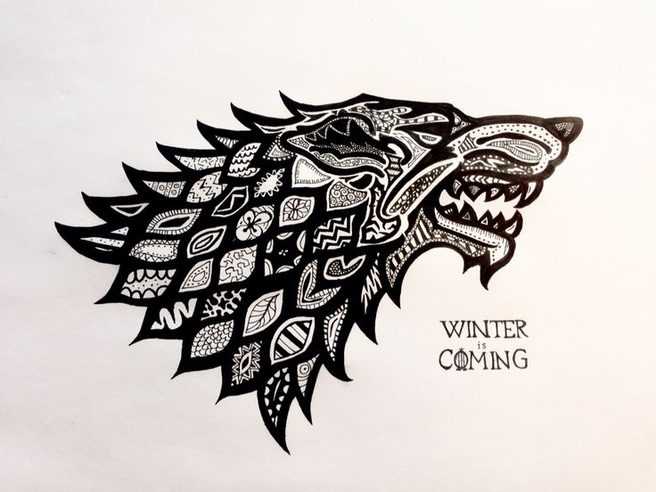 how to draw game of thrones symbol