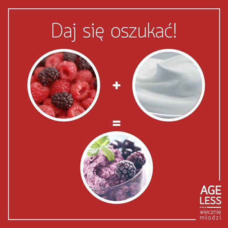 Nareszcie robi się ciepło, a tym samym zaczyna się sezon na... LODY!  Oto przepis jak je zrobić.  Metoda jest banalnie prosta: 150ml jogurtu naturalnego lub greckiego miksujemy ze 100g ulubionych owoców i zmrażamy przez kilka godzin. Efekt identyczny, a przyswajamy przy tym sporo witamin oraz białko. Smacznego!  #ageless #wiecznamlodosc #lody #przepisy #owoce #jogurt www.ageless.pl