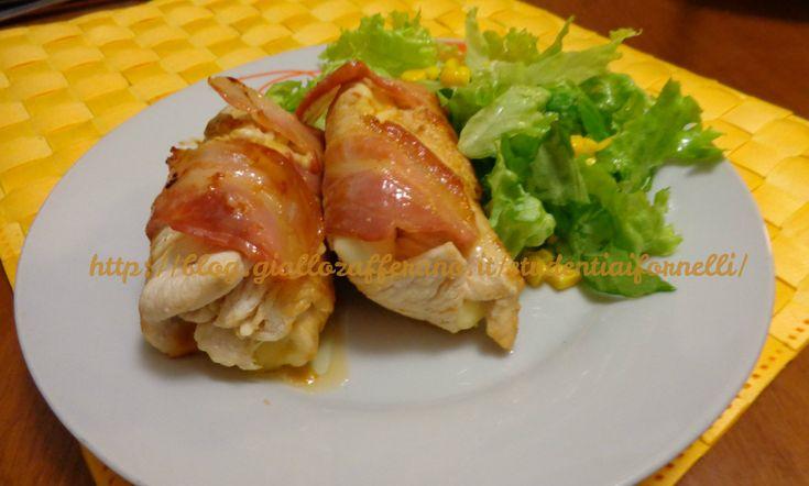Involtini di pollo con pancetta e scamorza