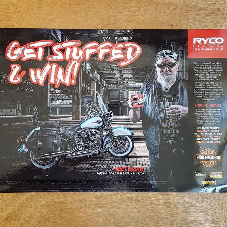 Campaign in print for @rycofilters  via @manbrands featuring one of Ryco's employees Brian. Cool campaign! . . . . #ryco #filters #harley #harleydavidson #getstuffed #motorcycle #campaign #advertisingcampaign #canon5dmarkiv