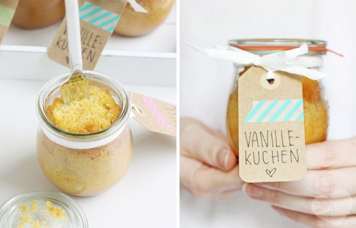 Vanillekuchen im Glas