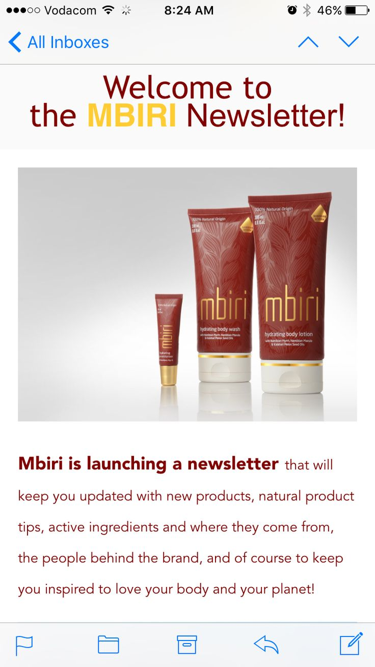 Mbiri launches a newsletter! You don't want to miss out on all the Mbiri news. Go to http://www.mbiri-skincare.com/newsletter/ to subscribe!