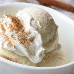Cinnamon Ice Cream Allrecipes.com    I love how creamy and smooth this ice cream is! A favorite by far!