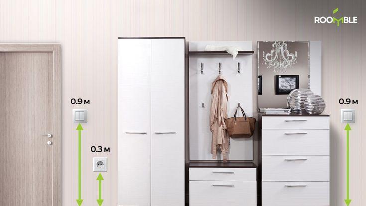 При планировании комнаты необходимо обратить особое внимание на розетки и
