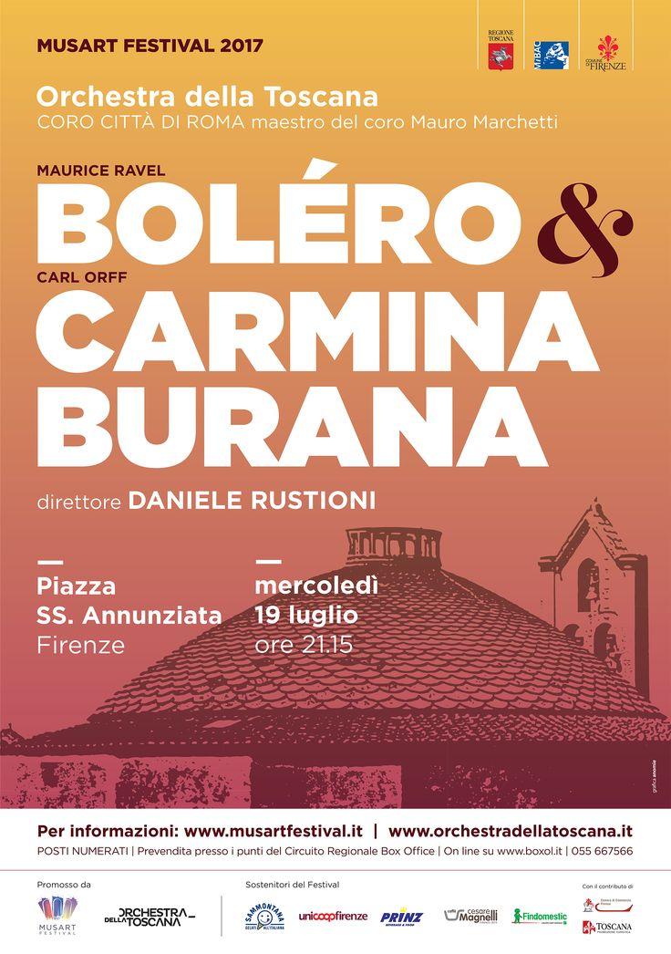 ORT | Musart Festival 2017 | Boléro e Carmina Burana | grafica Silvia Masetti