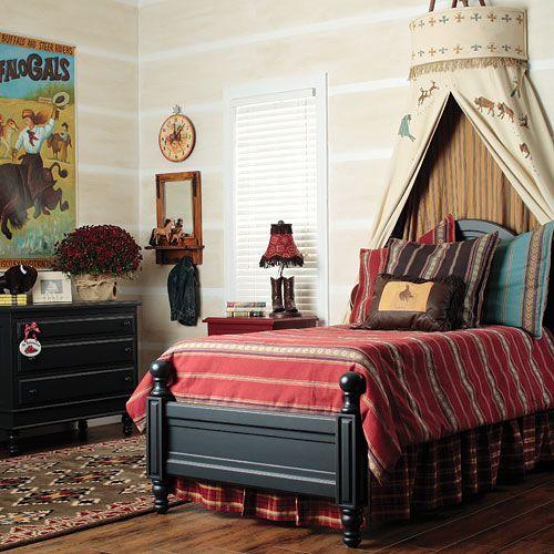 Girls western bedroom.