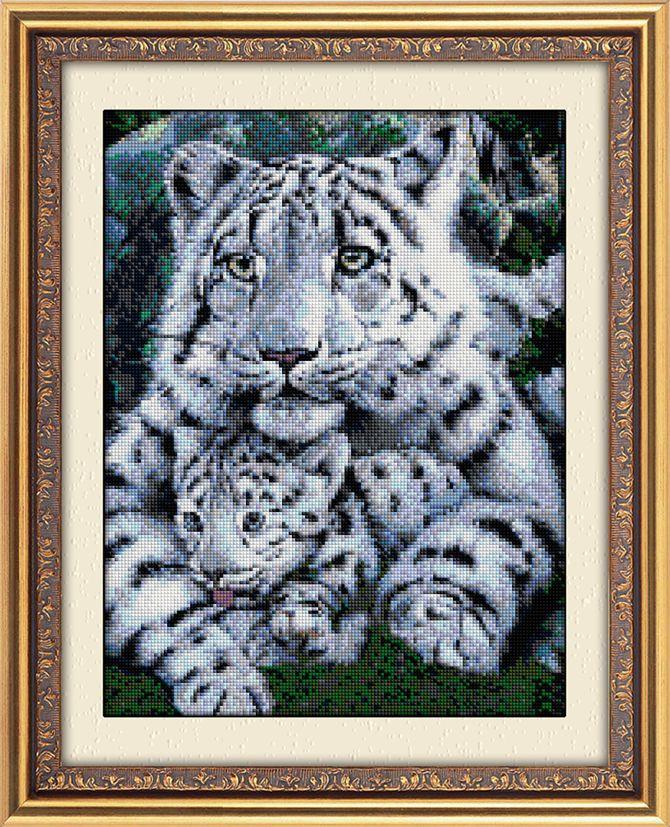 картинка 30049 Белые тигры. Dream Art. Набор алмазной живописи (квадратные, полная) от магазина Dream Art - производителя №1 наборов алмазной живописи в Украине