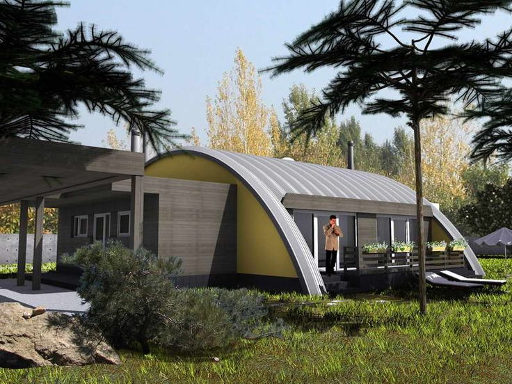 Curved Roof Garage In 2019 Quonset Hut Homes Quonset