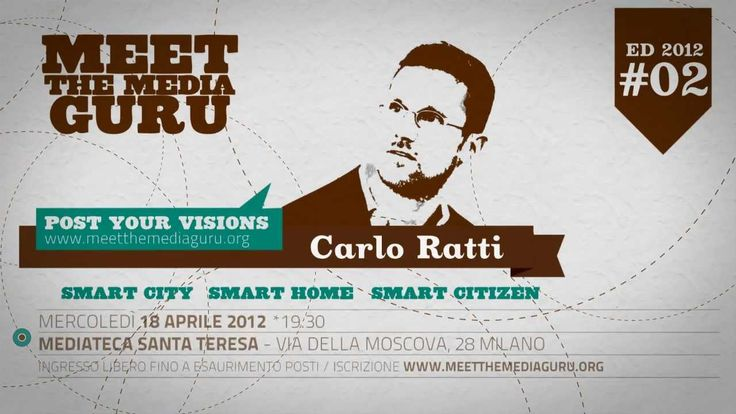 "CARLO RATTI :: LE SMART CITY Mercoledì 18 aprile 2012 Meet the Media Guru presenta Carlo Ratti che parlerà di Smart Cities - lecture http://www.meetthemediaguru.org/index... Video a cura di www.uramaki.tv Licenza CC music ""Swimming in Turpentine (Instrumental Version) by Josh Woodward"""