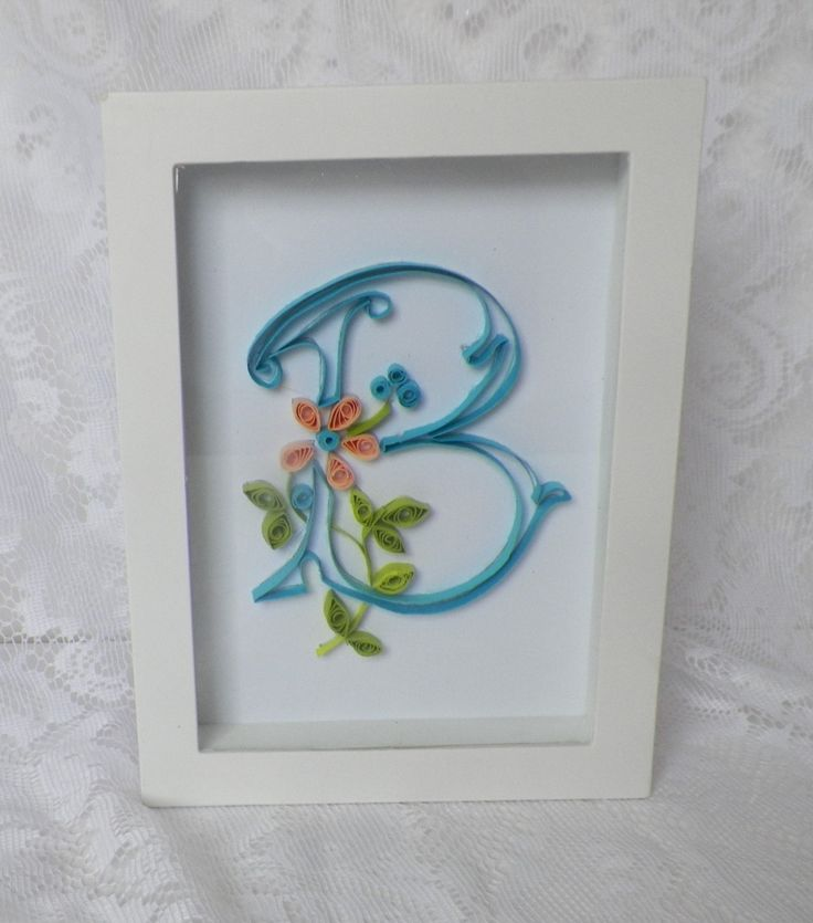 Paper quilled initial letter wall art great gift for Mom Teacher Wedding and Bridesmaid Gift (25.00 USD) by MyLittleShopOnline