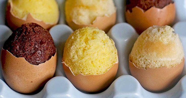 Jak upéct velikonoční dortíčky ve vaječné skořápce