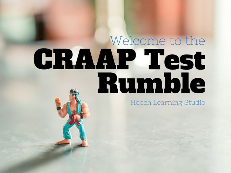 10th Grade English Students Take on the CRAAP Test Rumble | The Hooch Learning Studio