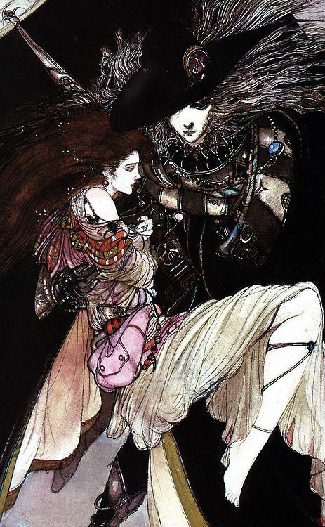 Vampire Hunter D - Art by Yoshitaka Amano