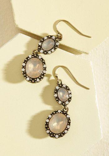 Glitz the Best Earrings in Champagne   Mod Retro Vintage Earrings   ModCloth.com