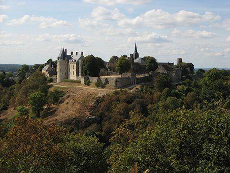 Castle, Táj, Sainte-Suzanne