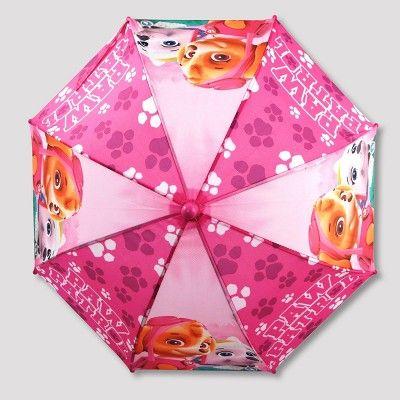 Toddler Girls' Paw Patrol Rain Jacket and Umbrella - Pink 4T-5T