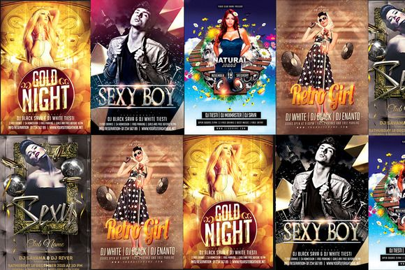 5in1 Party Flyer Bundle by ionescu_stefania on @creativemarket