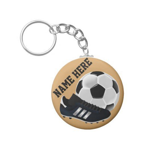 e05ee0c40f3 Personalized Soccer Ball and shoe Gifts Keychain