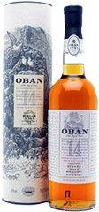 """De Oban is de meest westelijk gelegen distilleerderij van het vasteland in Schotland. De plaats Oban ligt aan de Oban Bay en vanaf Oban vertrekken vele pontjes naar de eilanden die voor de westkust liggen. De naam Oban is afkomstig van het omliggende gebied, dat de naam """"An Ob"""" droeg. Dit betekent """"Little Bay"""" (kleine baai van grotten). Deze grotten waren prima schuilplaatsen voor de illegale stokers."""