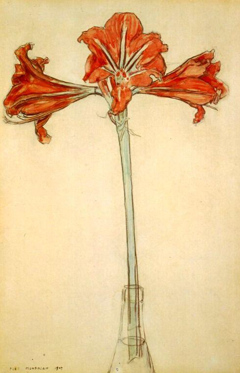 Piet Mondrian.  Amaryllis (1907).