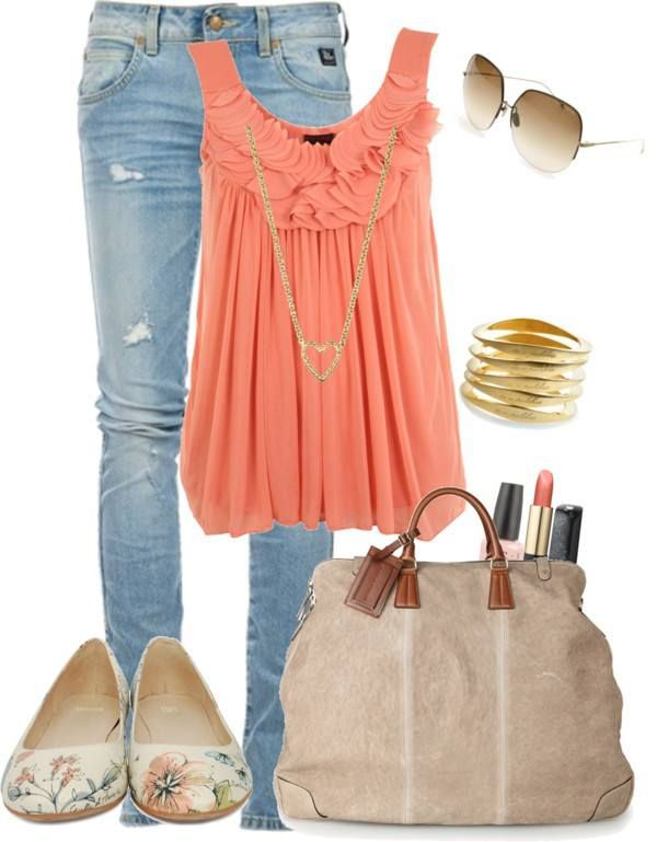 Summer fashion 2013 trends. I love this cute casual day look. - ANN  #ANNJANEcomingsoon