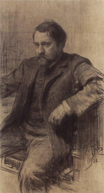 Portrait of the Artist Valentin Serov, 1901  Ilya Repin