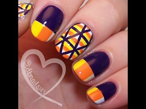 The 36 Best Candy Corn Nail Art Tutorial Video Gallery By Nded