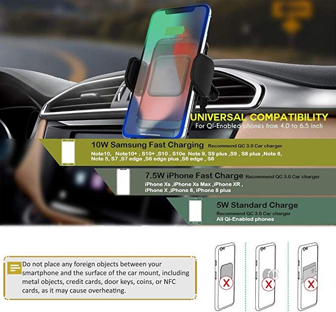 Samsung Galaxy S10 Plus S9 S8 Note 9 8 S7 Edge S6 UGREEN Car Phone Mount Dashboard Cell Phone Holder Compatible for iPhone 11 Pro Max SE XS X XR 8 7 6 Plus 6S 5 Google Pixel 3 XL LG V40 V30 G7 G6
