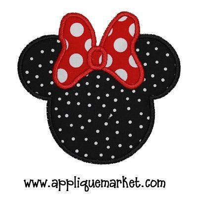 mouse ears applique design