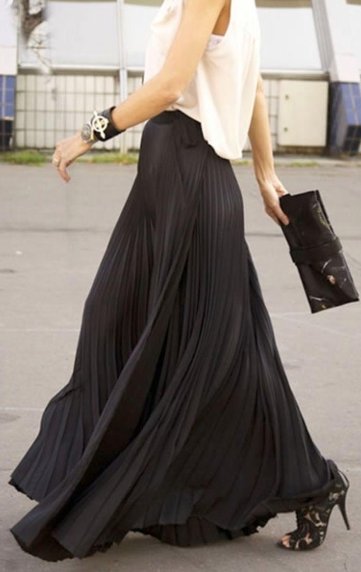 25  best ideas about Flowy skirt on Pinterest | Midi skirt, Midi ...