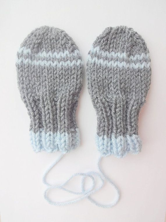 Knitting Pattern For Thumbless Mittens : Thumbless Baby Mittens KNITTING PATTERN, Instant Download, Winter Accessory, ...