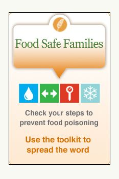 Learn the 4 core practices of food safety from the Partnership for Food Safety Education: Clean, Separate, Cook and Chill.