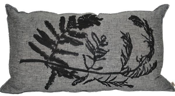 Fern Embroidery 1 Gyrosorium Charcoal