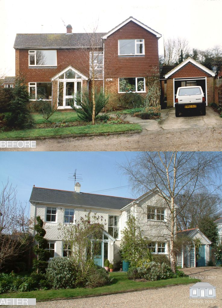 The first Back to Front project! 1960's before and after remodelling scheme