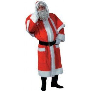 Costume Père Noël en peluche homme luxe, Noël, animation de Noël, déguisement père Noël deluxe.